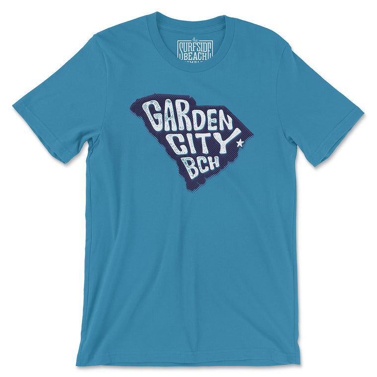 Garden City Bch (State/Star) Unisex Cotton T-Shirt