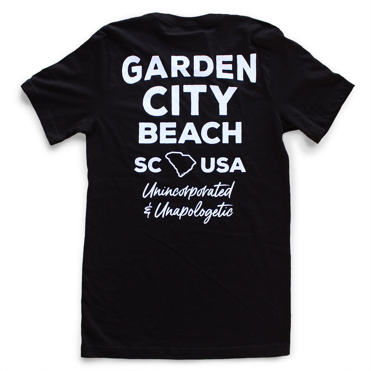 Garden City Beach premium pocket T-shirt back