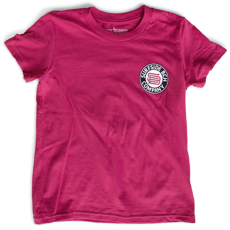 Surfside Beach Company premium heather berry youth T-Shirt front