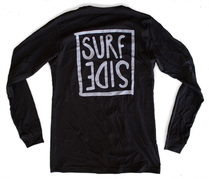Surf Side (flipt) premium long-sleeved black T-shirt back