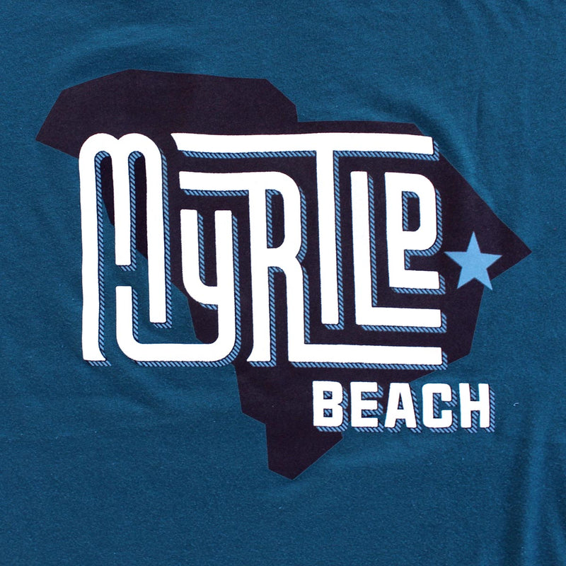 Myrtle Beach (State/Star) premium deep teal T-shirt zoom