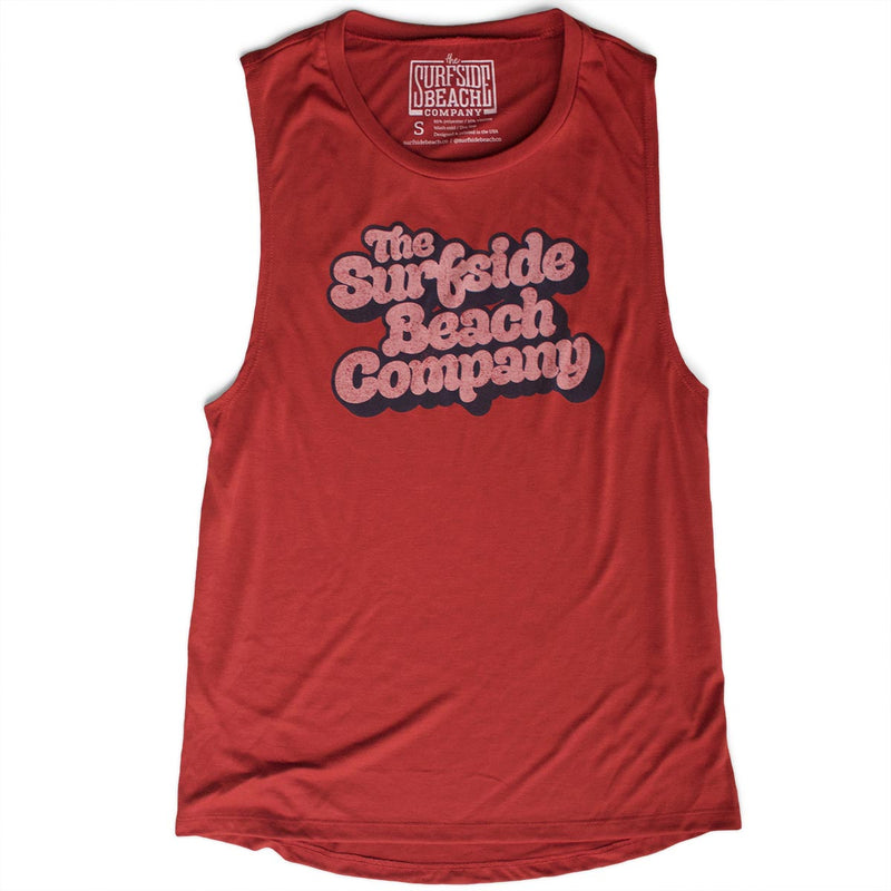 The Surfside Beach Company (Yummy Bubble) premium women's brick muscle tank-top