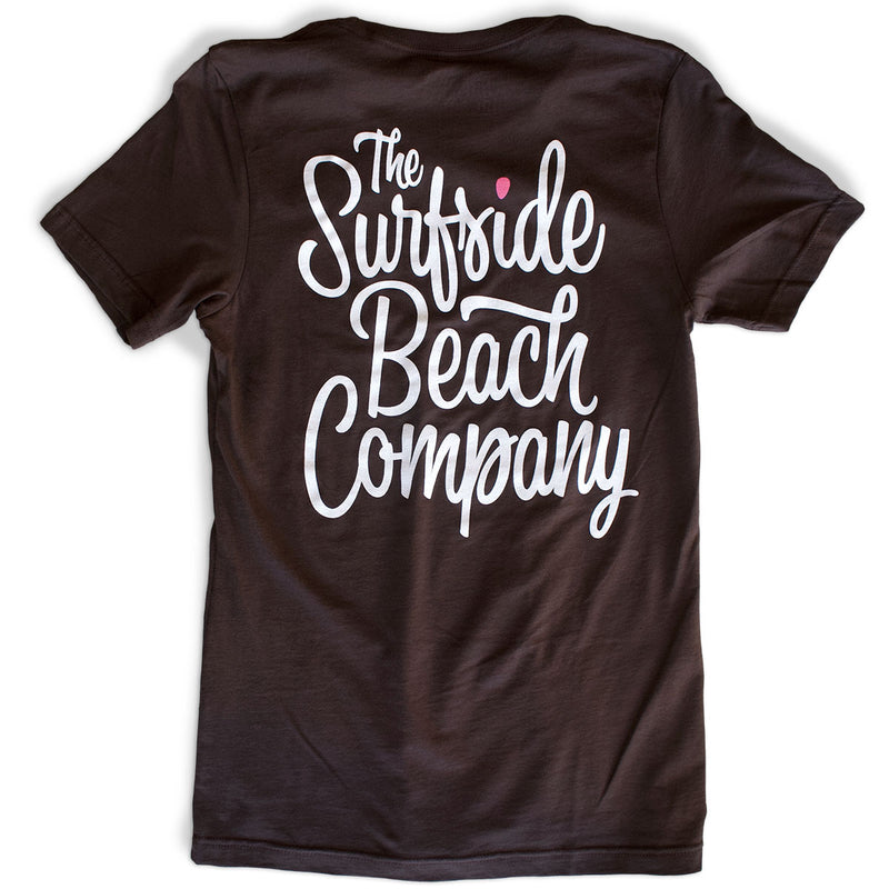 The Surfside Beach Company (Bewitched) premium brown T-shirt back