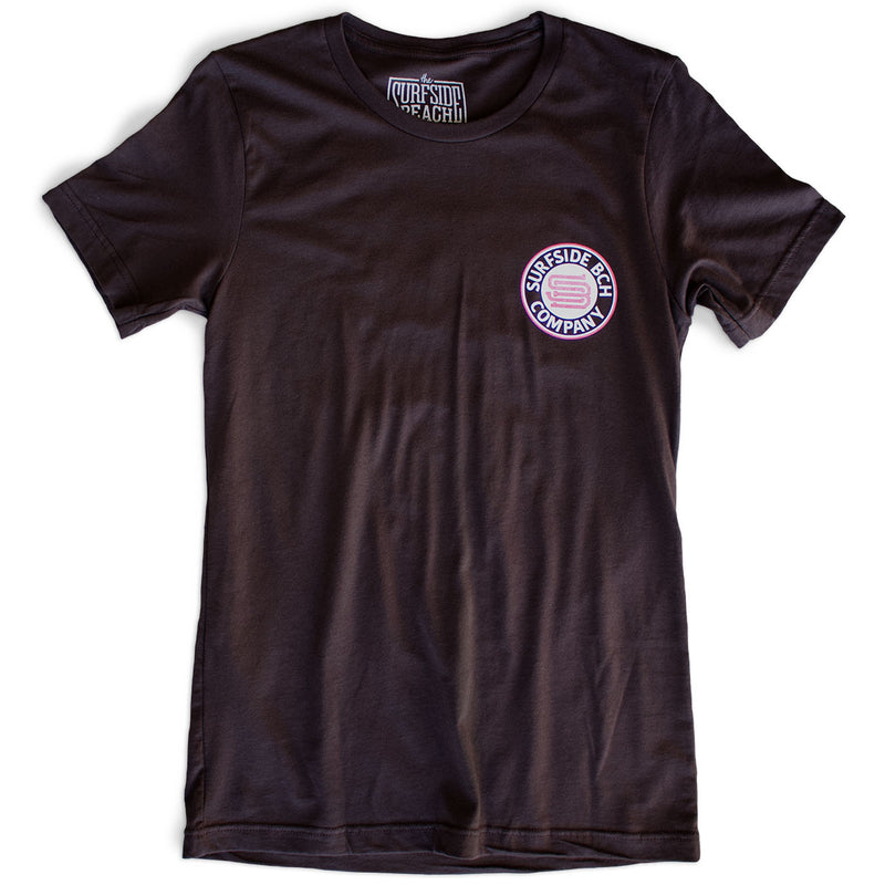 The Surfside Beach Company (Bewitched) premium brown T-shirt front