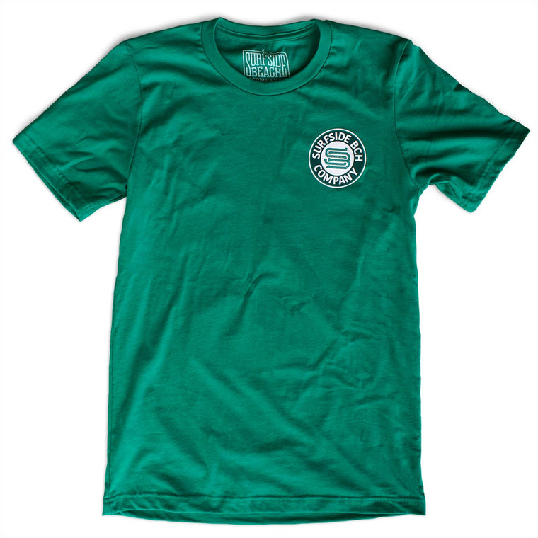 Saint Paddy's is Luckier @ the Beach! premium T-shirt front