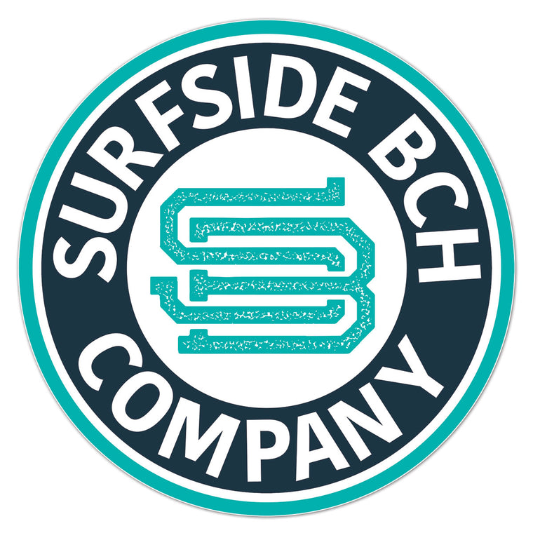 Surfside Bch Company (Seal) Glossy Vinyl Sticker