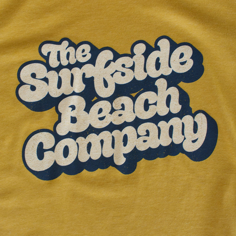 The Surfside Beach Company (Yummy Bubble) premium heather mustard T-shirt zoom