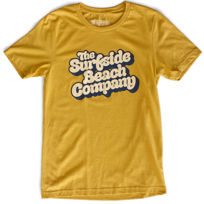 The Surfside Beach Company (Yummy Bubble) premium heather mustard T-shirt