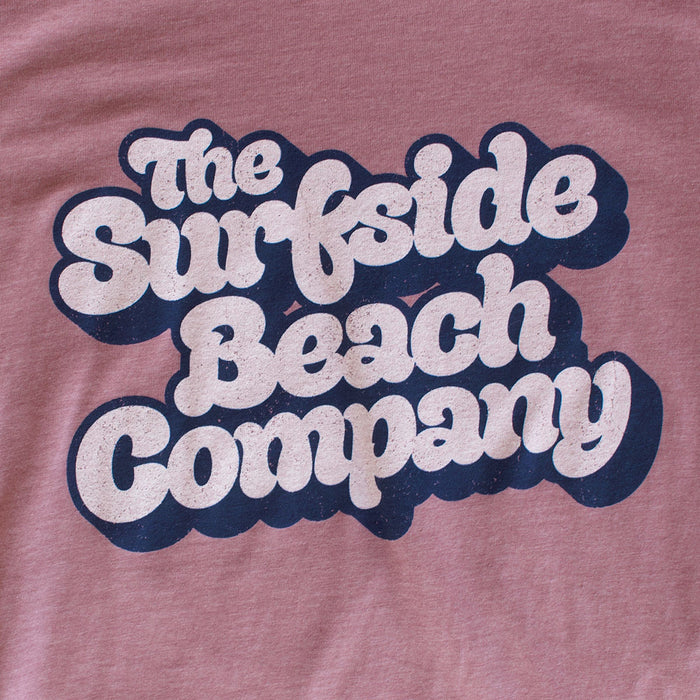 The Surfside Beach Company (Yummy Bubble) premium heather orchid T-shirt zoom