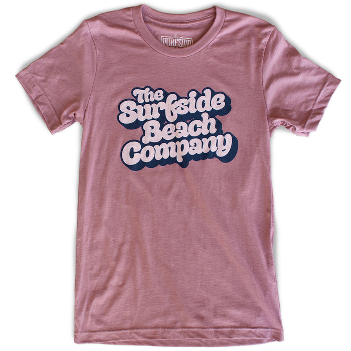 The Surfside Beach Company (Yummy Bubble) premium heather orchid T-shirt