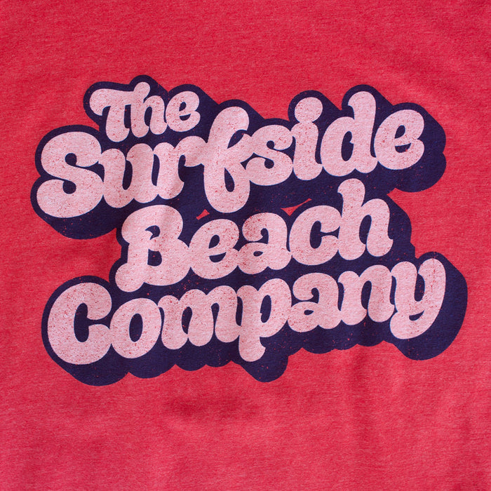 The Surfside Beach Company (Yummy Bubble) premium heather red T-shirt zoom