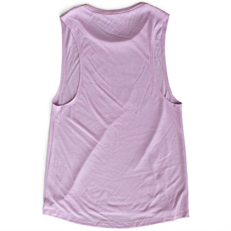 The Surfside Beach Company (Yummy Bubble) premium women's lilac muscle tank-top back