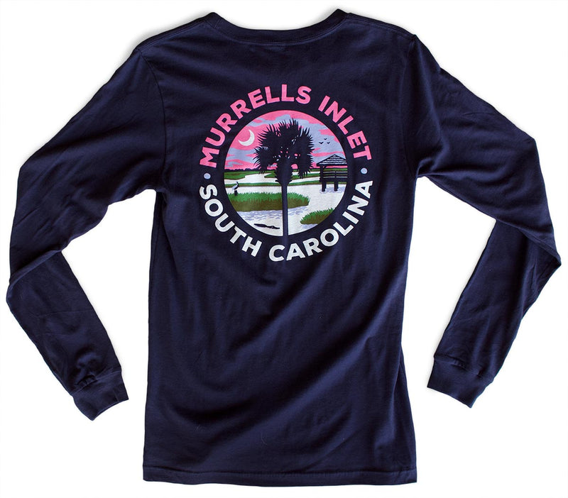 Murrells Inlet premium long-sleeved T-shirt back