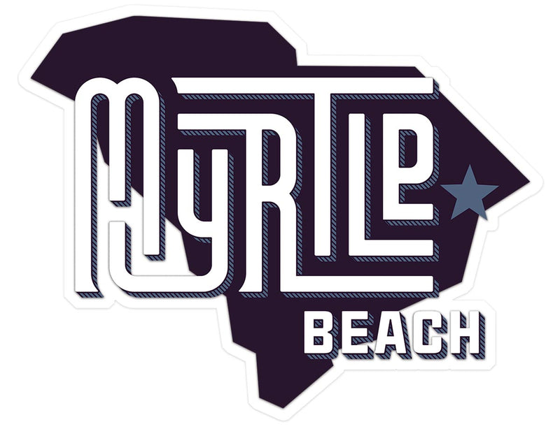 Myrtle Beach (State/Star) Glossy Vinyl Sticker