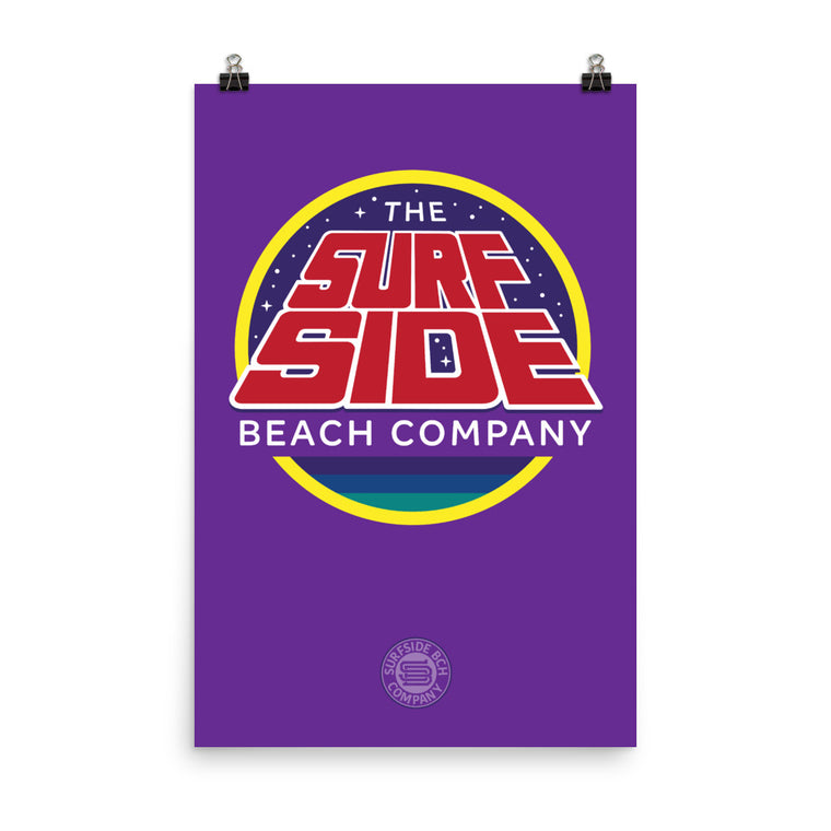 The Surfside Beach Company (Galaxy) Poster