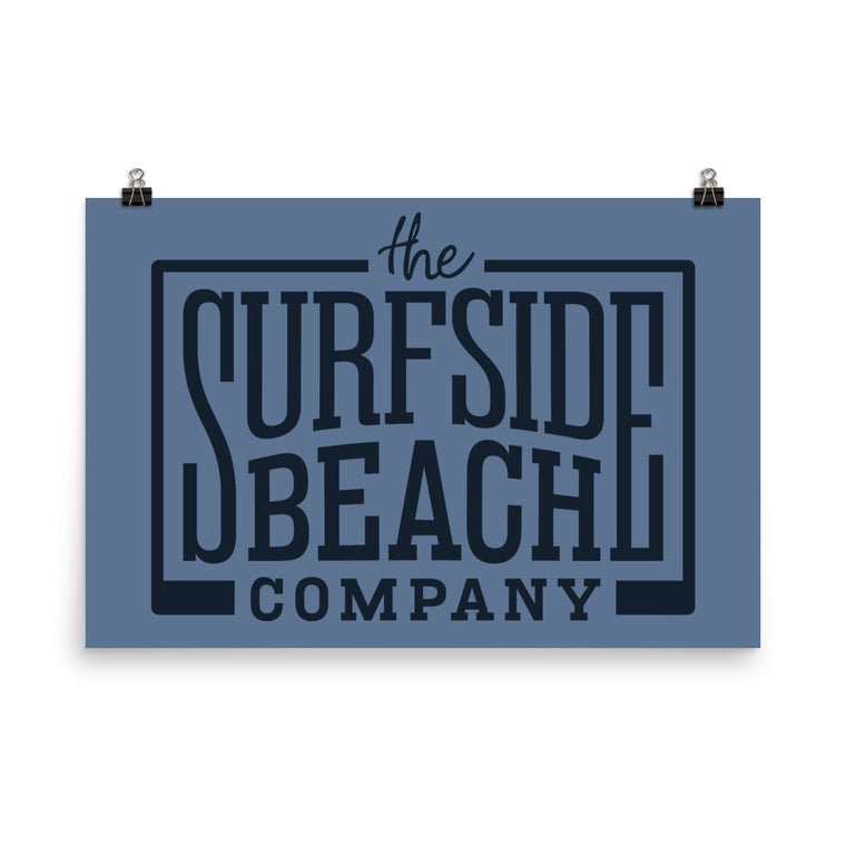 The Surfside Beach Company Logo: Poster
