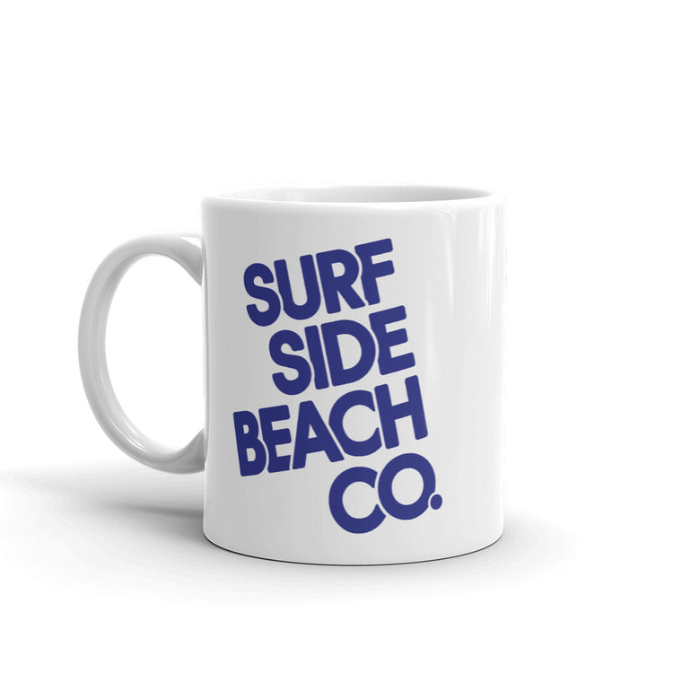 Surf Side Beach Company (Stacked Flynn) Coffee Mug