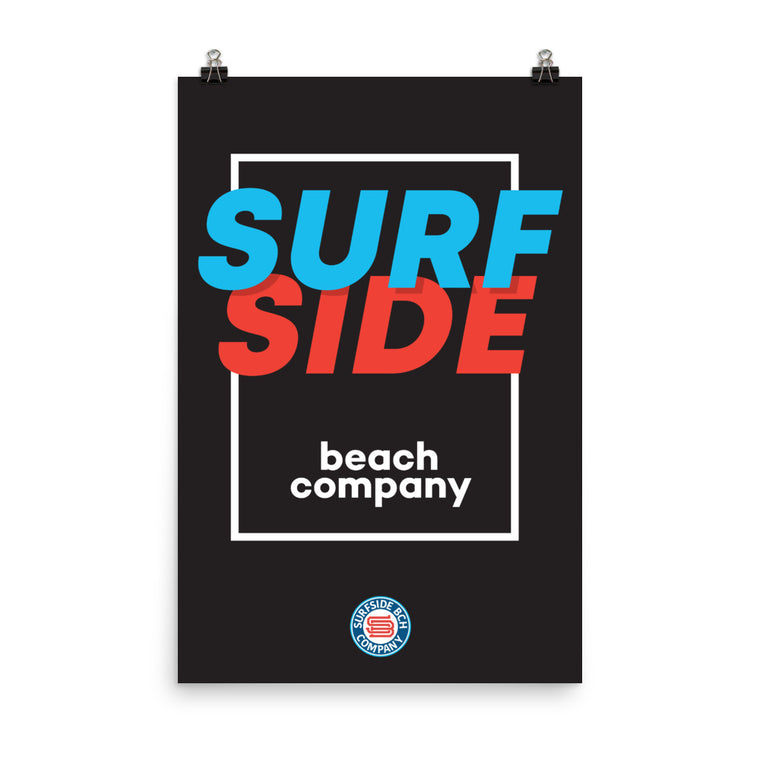 SURFSIDE beach company (shadow box) Poster