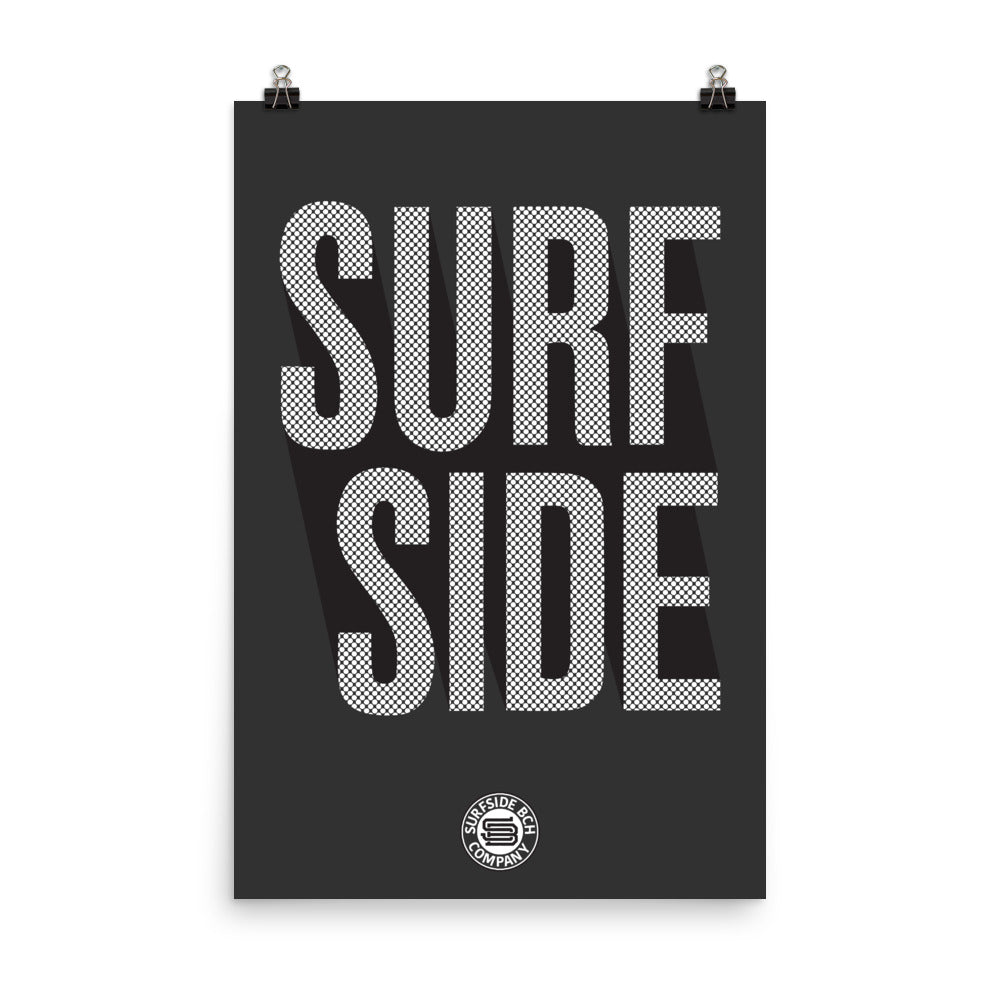 SURF SIDE (Stacked Dots) Poster