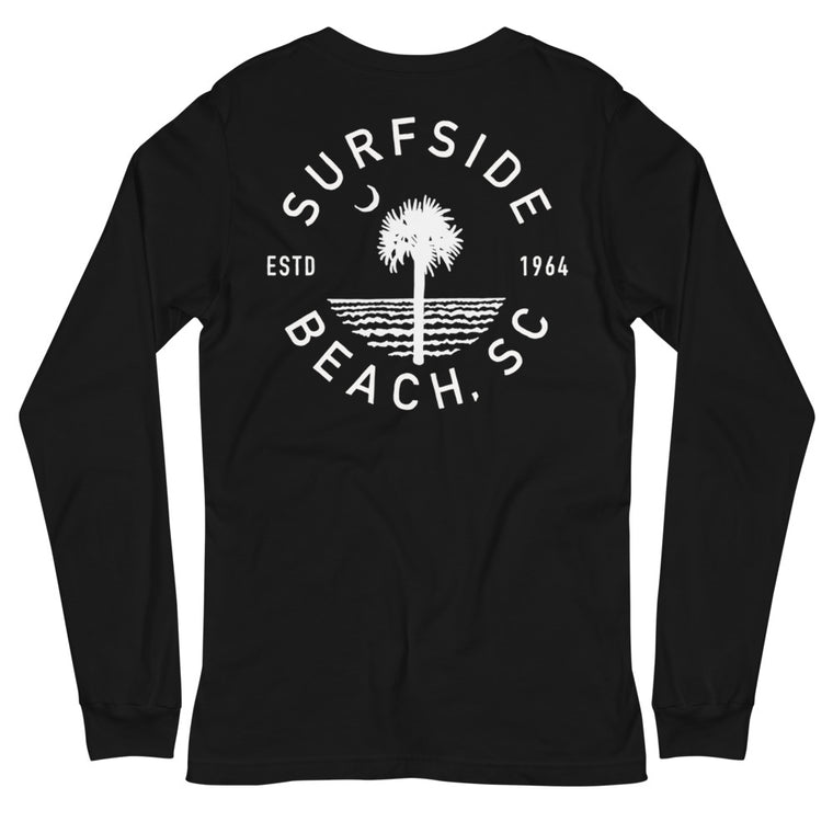 Surfside Beach (Circle Tree) Unisex Long-Sleeved T-Shirt
