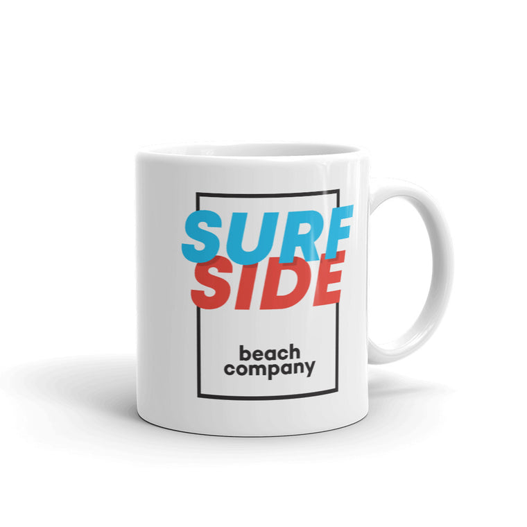 SURFSIDE beach company (shadow box) Coffee Mug