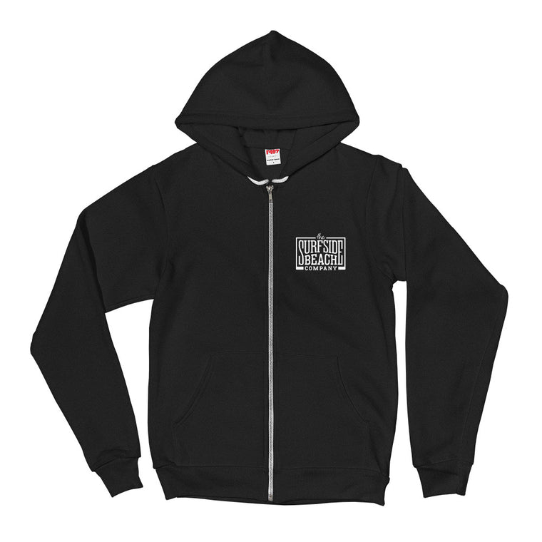 The Surfside Beach Company (Box-Logo) Unisex Zip-Up Hoodie