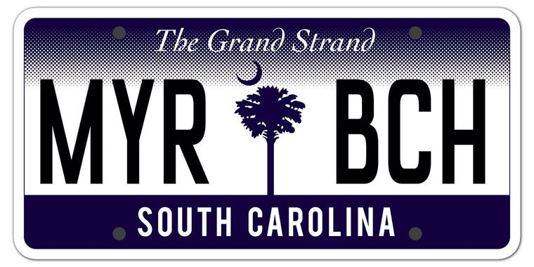 MYR BCH (License Plate) Glossy Vinyl Sticker