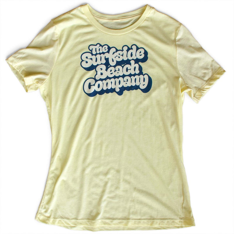 The Surfside Beach Company (Yummy Bubble) premium women's pale yellow T-shirt