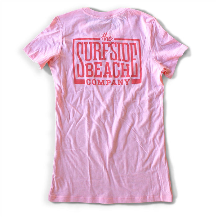 The Surfside Beach Company Women's (Juniors) Logo T-Shirt (pink)
