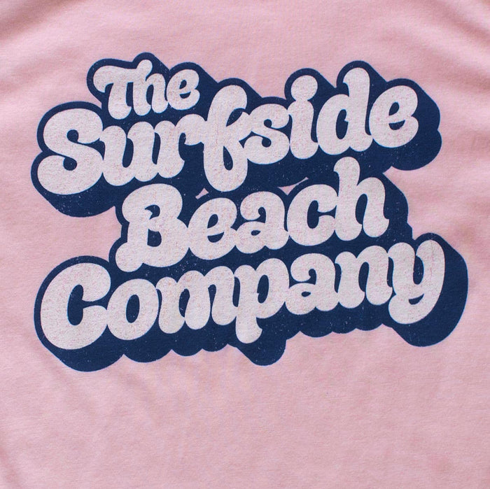 The Surfside Beach Company (Yummy Bubble) premium women's pale pink T-shirt zoom