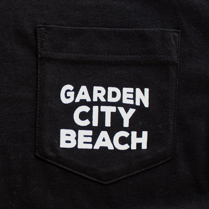 Garden City Beach premium pocket T-shirt pocket
