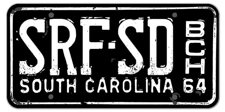 SRF-SD BCH ('64 License Plate) Glossy Vinyl Sticker