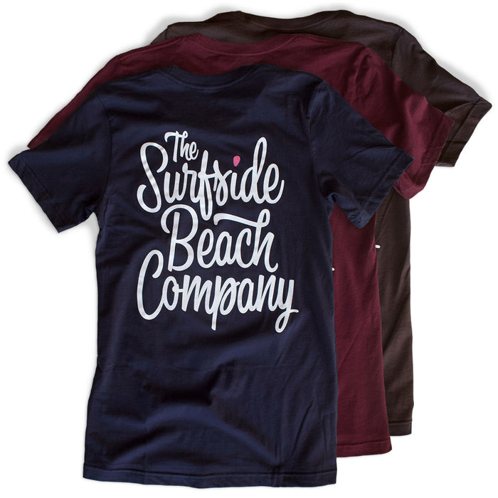 The Surfside Beach Company (Bewitched) premium T-shirts back