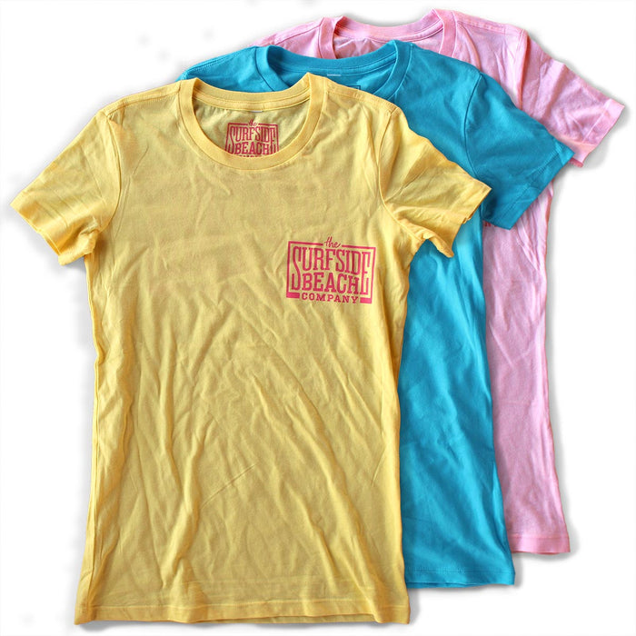 The Surfside Beach Company Women's (Juniors) Logo T-Shirt