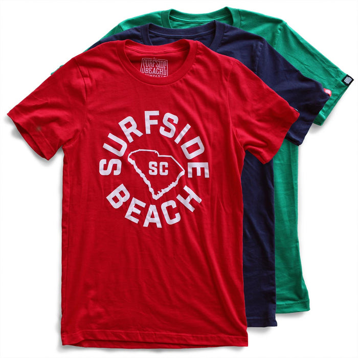 Surfside Beach, SC (Circle State) premium T-shirts