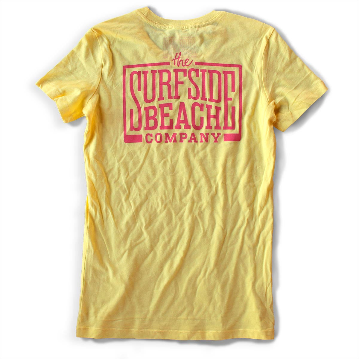 The Surfside Beach Company Women's (Juniors) Logo T-Shirt (yellow)
