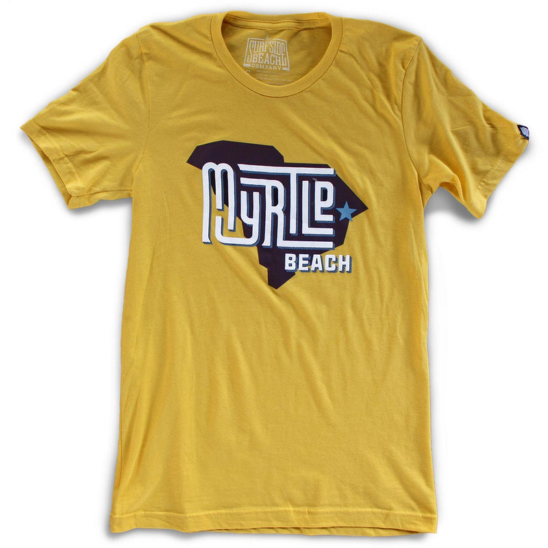 Myrtle Beach (State/Star) premium maize yellow T-shirt