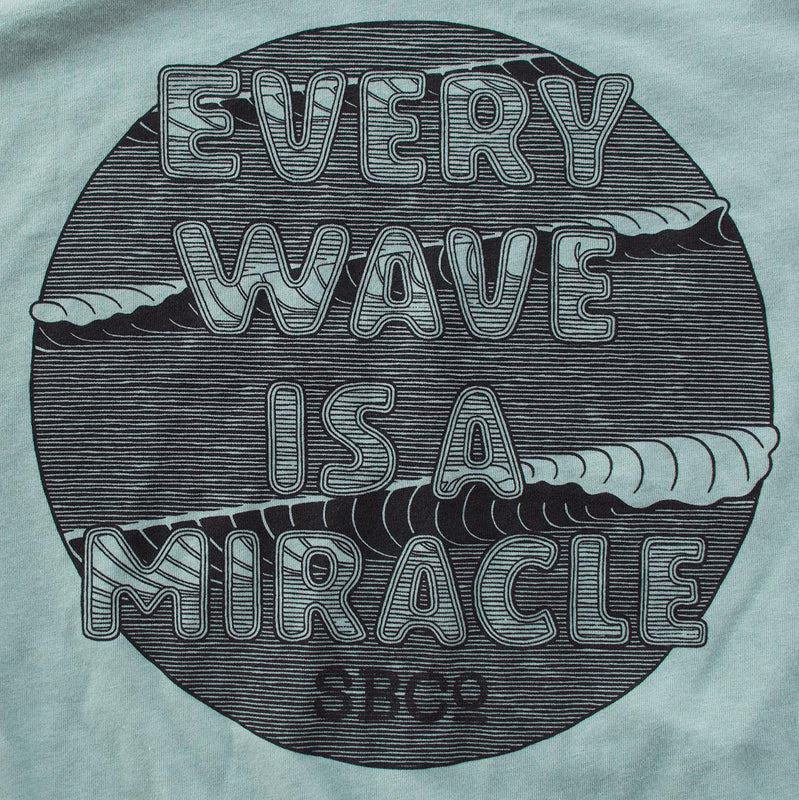 Every Wave is a Miracle premium heather dusty blue T-shirt zoom