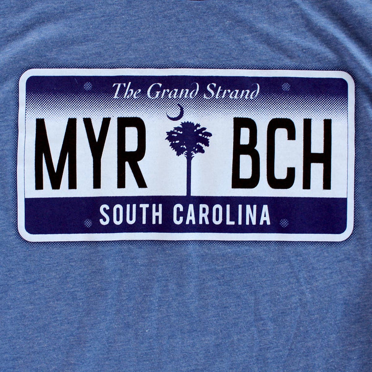 Myrtle Beach license plate premium T-Shirt sleeve