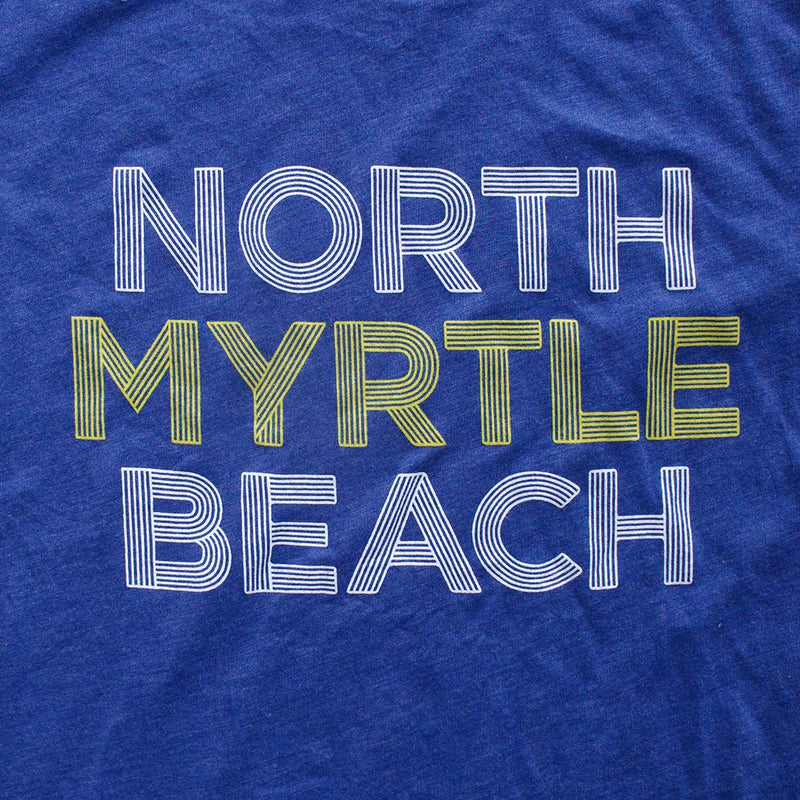 North Myrtle Beach (Radial Pinstripes) premium T-shirt zoom