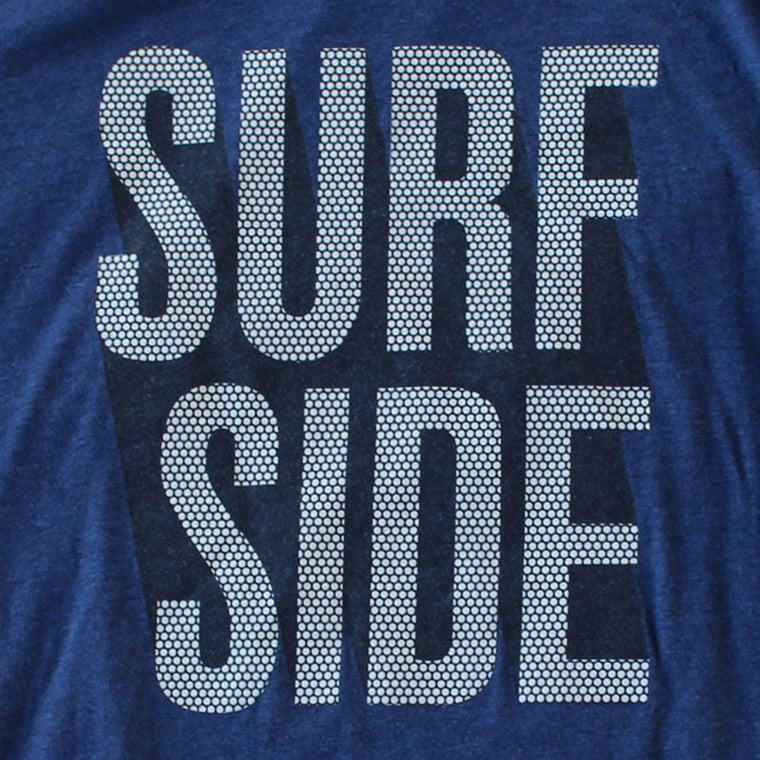 Surf Side (Stacked Dots) premium charcoal black T-shirt