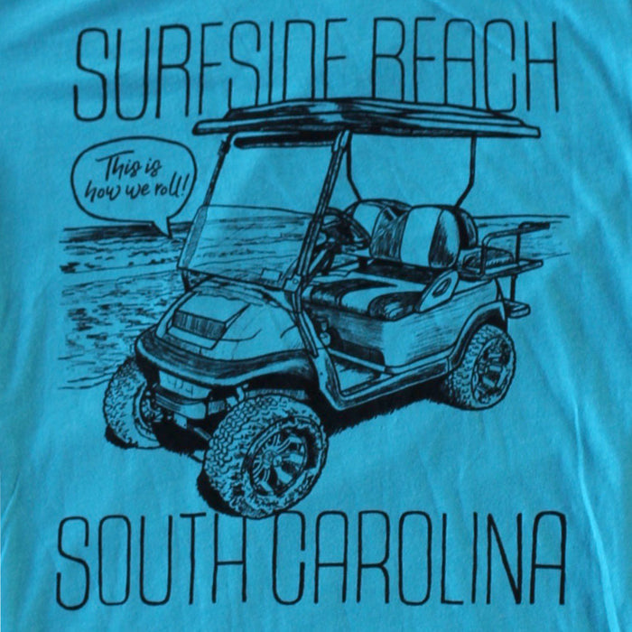 Surfside Beach, South Carolina (This is how we roll!) premium T-shirt zoom
