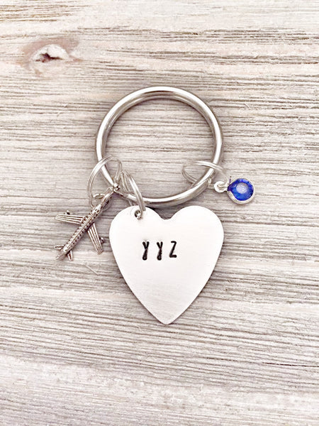 Airport - Travel - Frequent Flyer Keychain - Hand to Heart Jewelry
