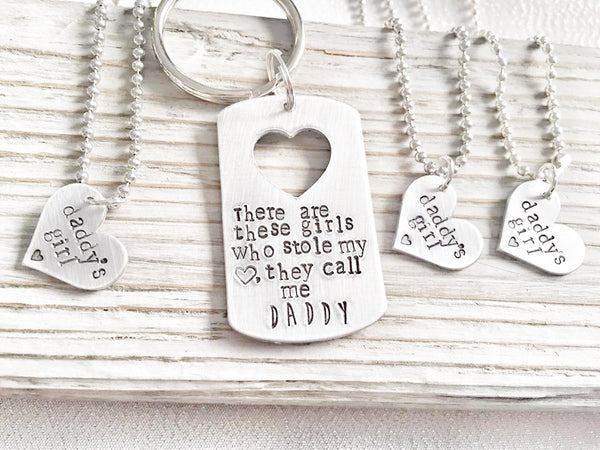 This Girl Stole my Heart - Daddy Keychain - Hand to Heart Jewelry