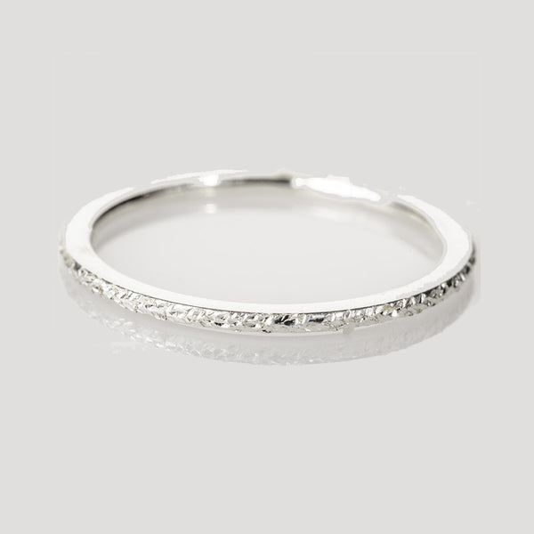 Sterling silver sparkly ring spacers - Hand to Heart Jewelry