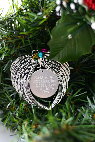 Wing Memorial Ornament - Hand to Heart Jewelry