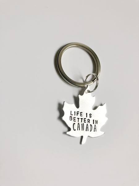 Canadian Keychain - Hand to Heart Jewelry