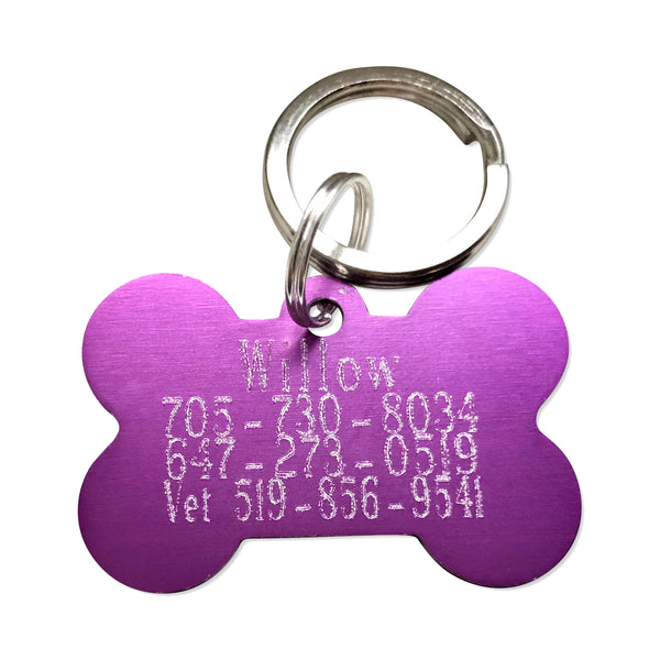 Engrave on the Back of a Pet Tag - Hand to Heart Jewelry
