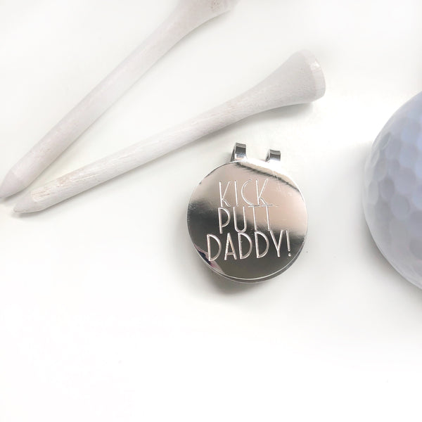 Golf Ball Marker with Clip - Hand to Heart Jewelry