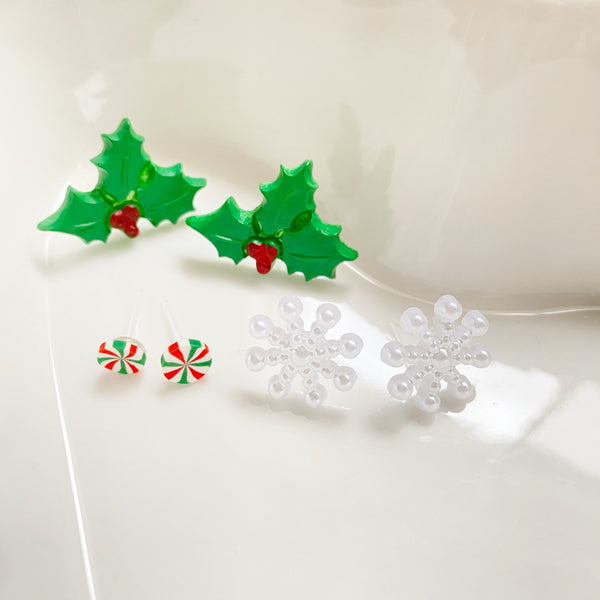 Children's Holiday Earrings